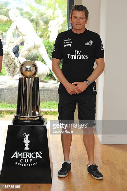 The skipper of Emirates Team New Zealand Dean Barker of New Zealand attends the Skippers Press Conference City of Naples America's Cup World Series...