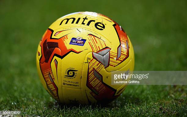 The Sky Bet match ball during the Sky Bet Championship match between Nottingham Forest and Queens Park Rangers on January 26 2016 in Nottingham...