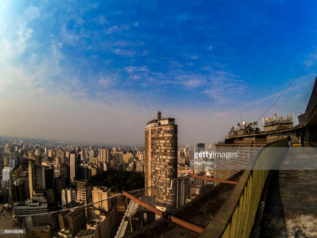 The sky is seen during morning on a warm day in São Paulo on 6 October, 2017.