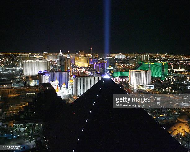 The skyline during Las Vegas Strip at Night at Las Vegas in Las Vegas Nevada United States