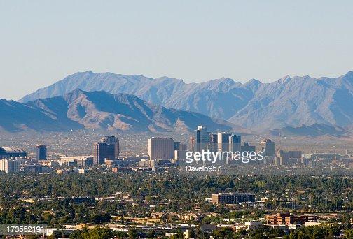 Vue sur le centre-ville de Phoenix