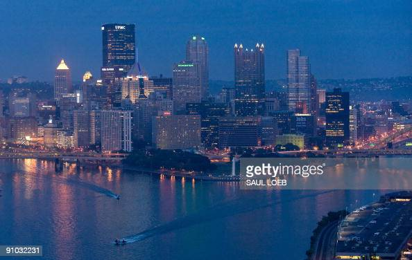 The skyline of downtown Pittsburgh Pennsylvania September 22 as the city prepares for the G20 summit of world economic leaders being held later this...