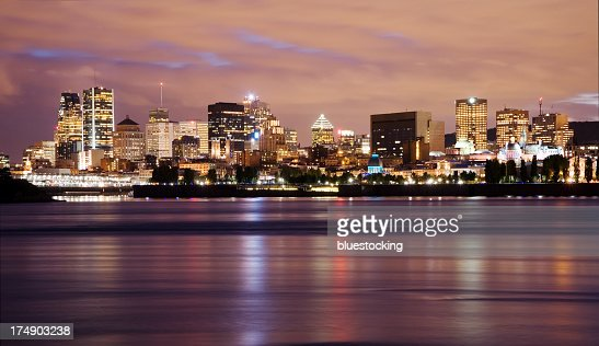 The skyline of Montreal at night