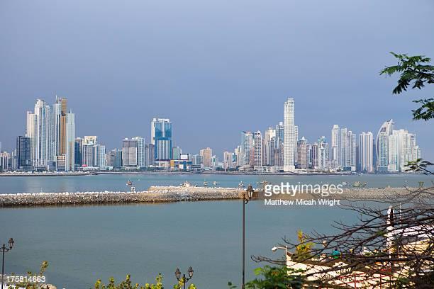 The skyline of Panama City from Casco VIejo