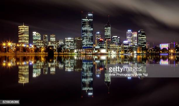 The Skyline of Perth City At Night, Western Australia