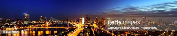 The skyline of Rotterdam, the Netherlands