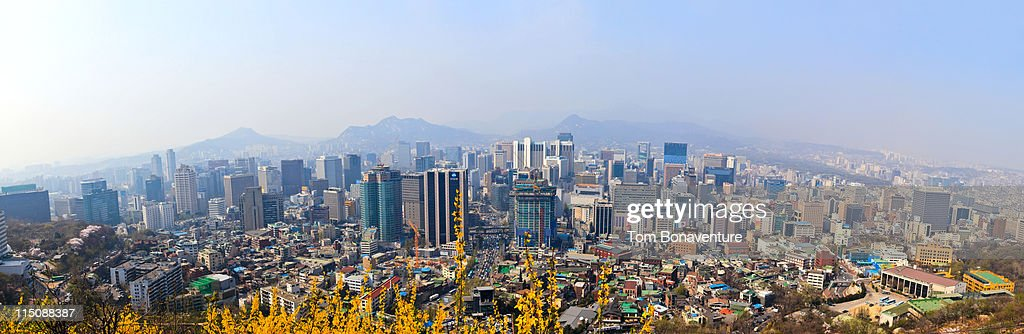 The skyline of Seoul : Stock Photo