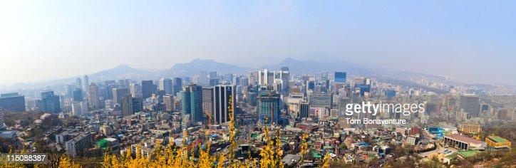 The skyline of Seoul : Stock Photo
