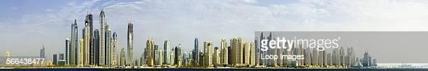 The skyline of the Jumeirah Beach Residence in Dubai