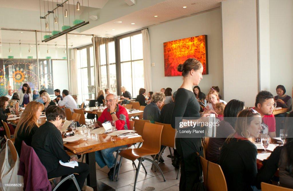 The Slanted Door restaurant in the Ferry Building.