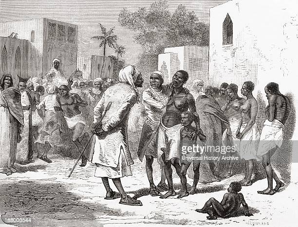 The Slave Market In Zanzibar Tanzania East Africa In The 19Th Century From El Mundo En La Mano Published 1878