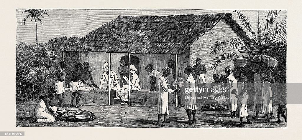 The Slave Trade On The East Coast Of Africa Released Slaves On The Universities' Mission Estate At Mbweni Near Zanzibar Paying Wages