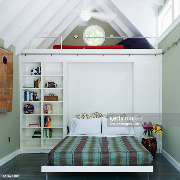 The Slimp's converted garage utilizes a murphy bed and loft to maximize space May 13 2014 in Washington DC
