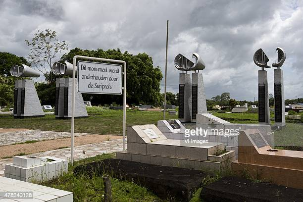 The SLM disaster monument in Paramaribo Suriname