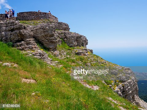 The slope from the observation deck of Mount Ai-Petri : Foto de stock