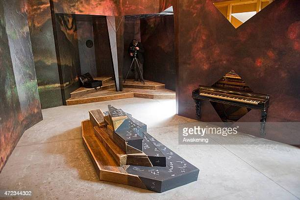 The Slovenia pavillion at the Arsenale at the 56 Venice Biennale Art on May 6 2015 in Venice Italy