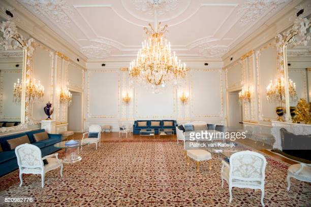 The Small Ballroom in Palace Noordeinde on July 22 2017 in The Hague Netherlands Palace Noordeinde is the office of King WillemAlexander and Queen...