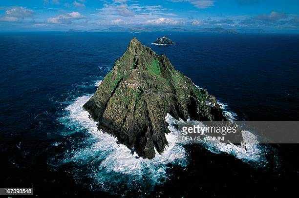 The small island of Skellig Michael Skellig Islands County Kerry Ireland