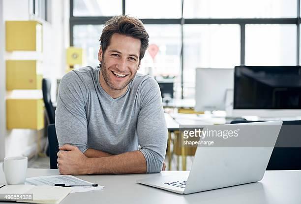 Das Lächeln auf Erfolg