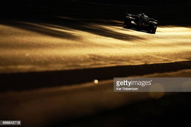 The SMP Racing Dallara of Mikhail Aleshin Viktor Shaytar and Sergey Sirotkin drives during qualifying for the Le Mans 24 Hours race at the Circuit de...