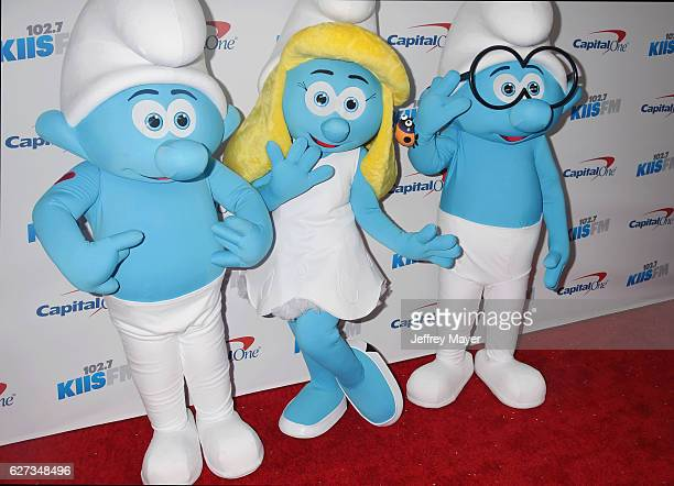 The Smurfs attend 1027 KIIS FM's Jingle Ball 2016 at Staples Center on December 2 2016 in Los Angeles California