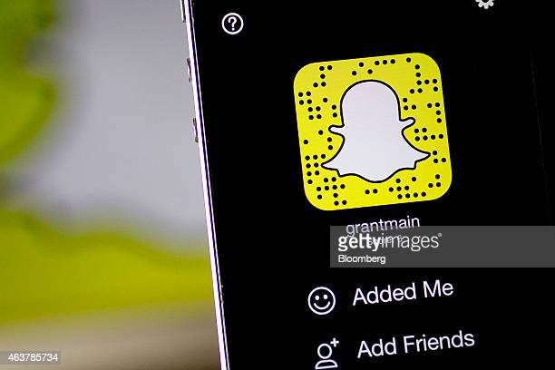 The Snapchat Inc application is seen on an on an Apple Inc iPhone 5s displayed for a photograph in Washington DC US on Wednesday Feb 18 2015 Snapchat...