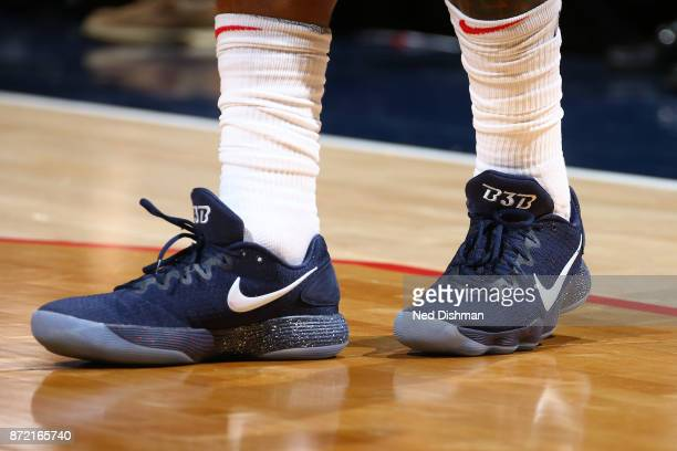 The sneakers of Bradley Beal of the Washington Wizards during the game against the Dallas Mavericks on November 7 2017 at Capital One Arena in...