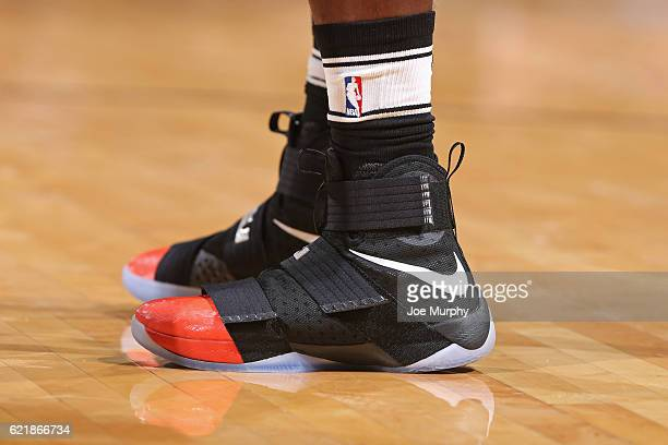 The sneakers of Eric Bledsoe of the Phoenix Suns are seen during the game against the Oklahoma City Thunder on October 28 2016 at the Chesapeake...