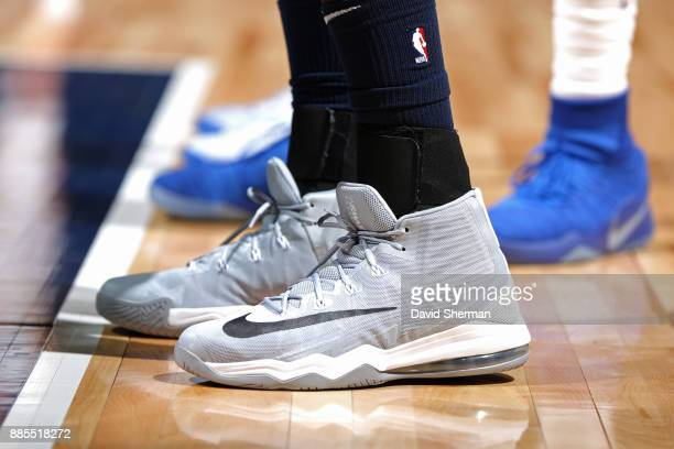 The sneakers of Gorgui Dieng of the Minnesota Timberwolves during the game against the LA Clippers on December 3 2017 at Target Center in Minneapolis...