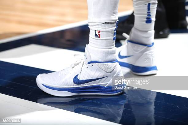 The sneakers of JJ Barea of the Dallas Mavericks are seen during the game against the Minnesota Timberwolves on December 10 2017 at Target Center in...