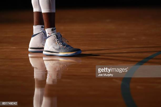 The sneakers of Mike Conley of the Memphis Grizzlies on August 7 2015 at FedExForum in Memphis Tennessee NOTE TO USER User expressly acknowledges and...