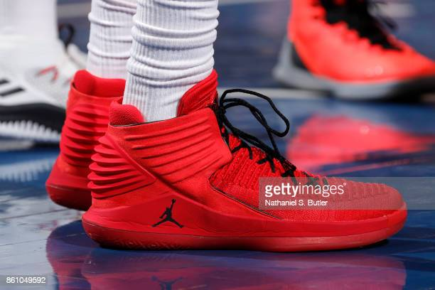 The sneakers of Otto Porter Jr #22 of the Washington Wizards are seen during the game against the New York Knicks on October 13 2017 at Madison...