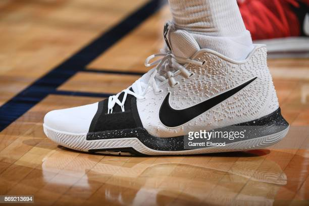 The sneakers of Richard Jefferson of the Denver Nuggets are seen during the game against the Toronto Raptors on November 1 2017 at the Pepsi Center...