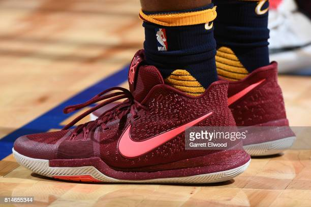 The sneakers of Roosevelt Jones of the Cleveland Cavaliers are seen during the game against the Toronto Raptors on July 14 2017 at the Thomas Mack...