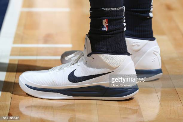 The sneakers of Shabazz Muhammad of the Minnesota Timberwolves during the game against the Phoenix Suns on November 26 2017 at Target Center in...