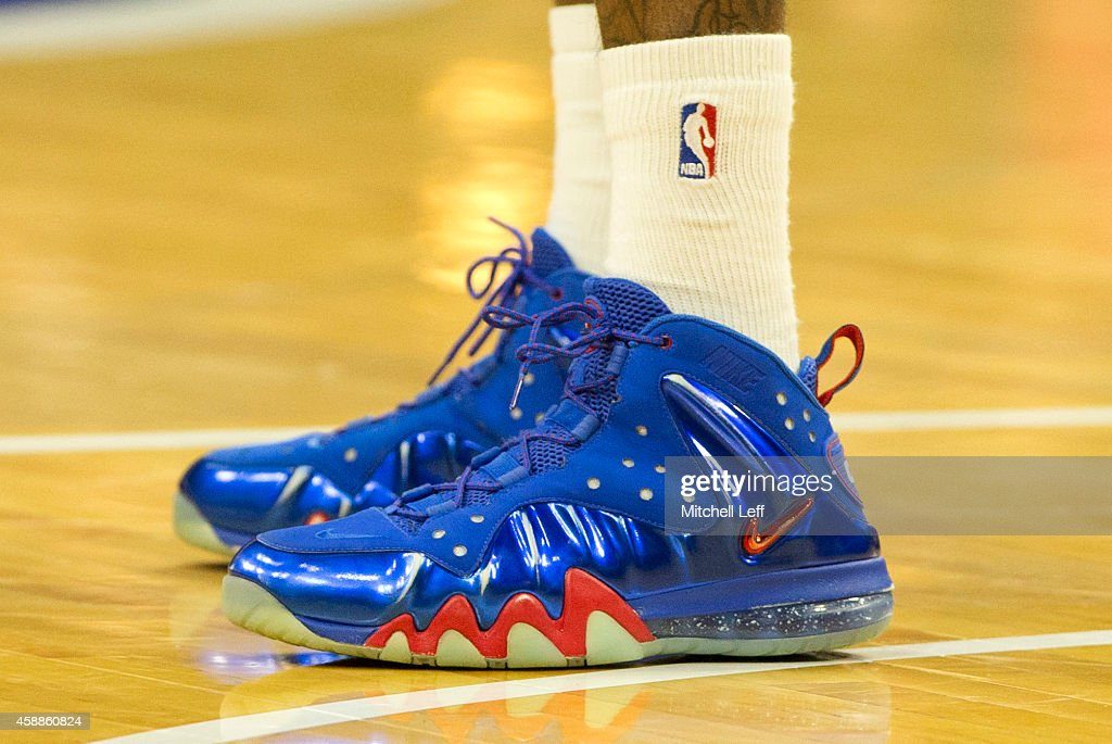 The sneakers of Tony Wroten of the Philadelphia 76ers during warm ups prior to the game against the Orlando Magic on November 5 2014 at the Wells...