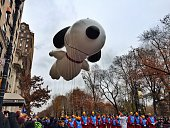 The Snoopy balloon in the Macy's Thanksgiving Parade