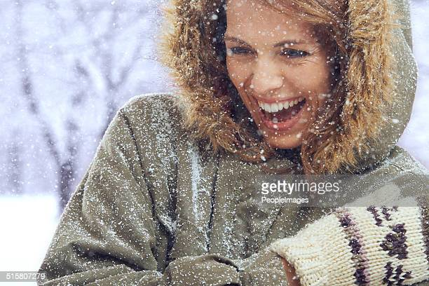 The snow is her ultimate playmate