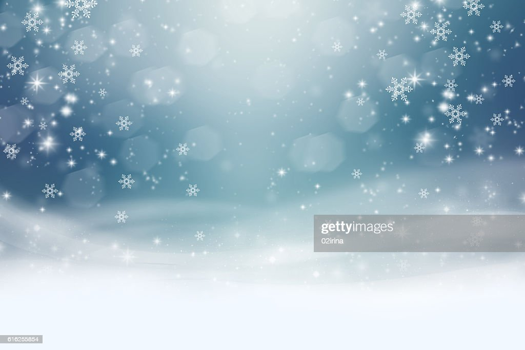 The snow on a blue background : Stock Photo