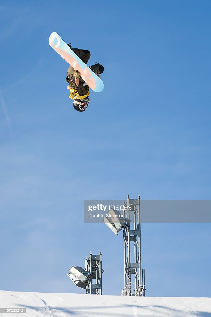 The snowboarder <a gi-track='captionPersonalityLinkClicked' href=/galleries/search?phrase=Christian+Haller&family=editorial&specificpeople=4606567 ng-click='$event.stopPropagation()'>Christian Haller</a> of Switzerland in action at freestyle.ch Zurich 2013 on September 21, 2013 in Zurich, Switzerland.