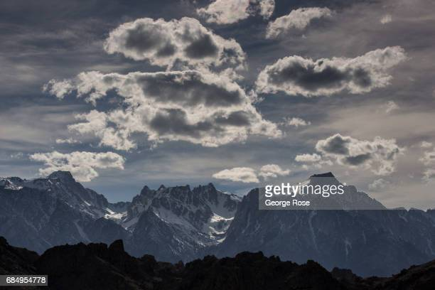 The snowcovered Sierra Nevada Mountains and Mt Whitney are viewed from Highway 395 on April 6 in Lone Pine California Owens Valley is an arid valley...