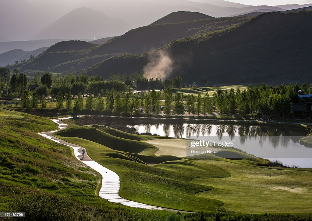 The Snowmass Club and golf course is viewed after sunrise on June 14 in Snowmass Colorado Colorado's Rocky Mountains are part of a range that extends...