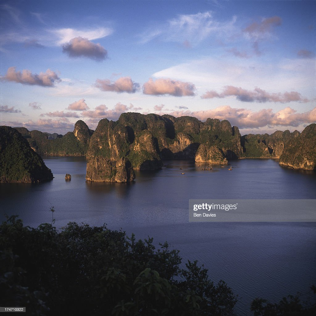 The soaring limestone cliffs of Ha Long Bay acclaimed as one of the most spectacularly beautiful regions on earth Legend tells that the first...