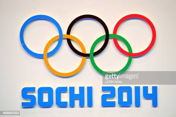 The Sochi Winter Olympic Games logo is pictured on February 11 2014 at the Sanki Sliding Center in Rosa Khutor AFP PHOTO / LEON NEAL
