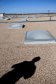 March 20, 2008 - Dyess Air Force Base, Texas - The solar day lighting system consist of a hundred plus 5x6 ft. panels integrated with the electric lighting to reduce the electric load in ten buildings