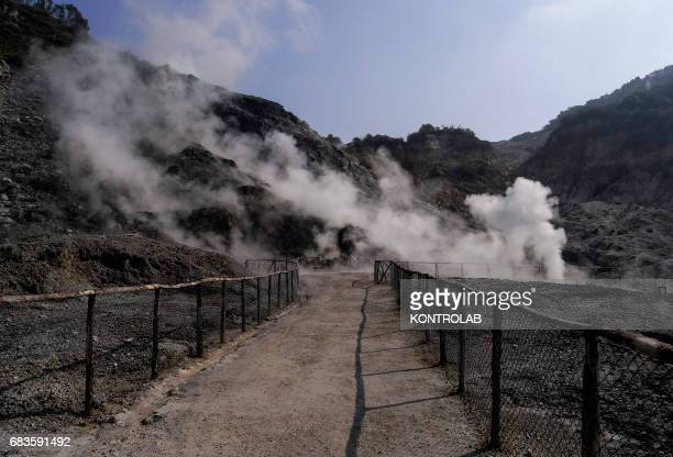 The Solfatara crater part of the Campi Flegrei Volcano the biggest caldera of Italy