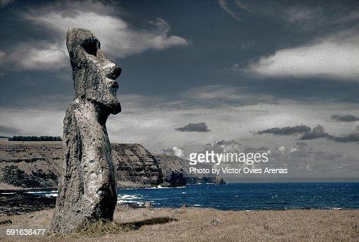 The 'solo'moai of Ahu Tongariki