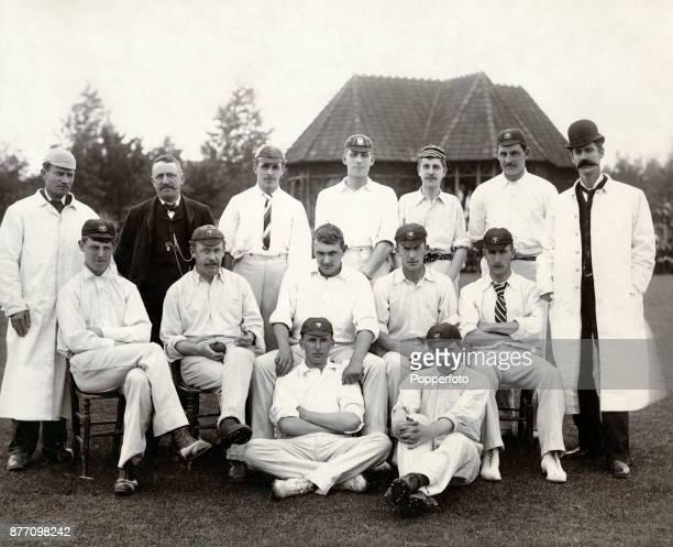 The Somerset cricket team prior to their match against Glamorgan in Cardiff on 25th July 1890 Somerset won by an innings and 76 runs Left to right...