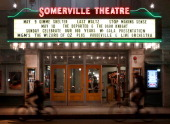 The Somerville Theatre in Davis Square in Somerville Mass on May 9 2104 The theater is celebrating its 100th anniversary May 11