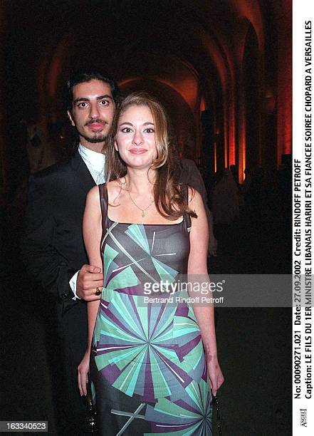 The son of Lebanese prime minister Hariri and his fiancee Chopard party in Versailles